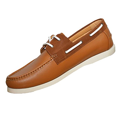 Duke Herren D555 Big Hoch king-Size CADE Perforiert Klassisch Boot Schuhe Hellbraun