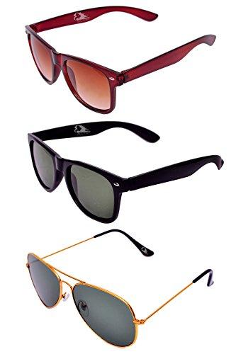 RST Aviator & Wayfarer Goggles Pack of 3 (Multi)(black)(134)