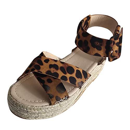 mode Feste Keile Lässige Schnalle Römische Schuhe Sandalen Strand Hausschuhe Strandschuhe flach mit Hausschuhen im Freien Laufschuhe Sportschuhe Turnschuhe ()