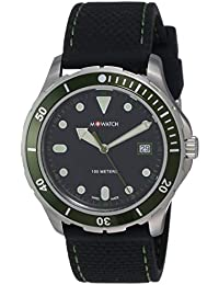 M-WATCH Aqua Steel 41 Analog Black Dial Men's Watch-WBX.31220.RB