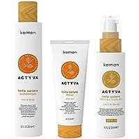 kemon actyva linfa solare kit protezione pelle e capelli con oil SPF6