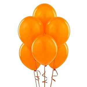 Gifts 4 All Occasions Limited SHATCHI-54 - Lote de 100 globos de látex de color naranja para decoración de fiestas, bodas, cumpleaños, aniversarios