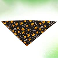 POPETPOP Lindo Perro Babero Fresco y cómodo Perro Bufanda Vendaje Triangular Collar de Perro Mascota Toalla de Saliva Impresa (Negro)