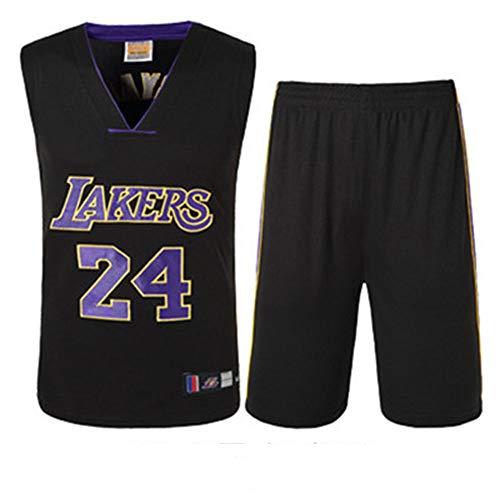 LAFE NBA Basketball Jersey Kinder Jungen Männer Lakers Kobe Bryant 24 bestickt Jersey Basketball Anzüge Sommer Jersey Set Sommer Trikots
