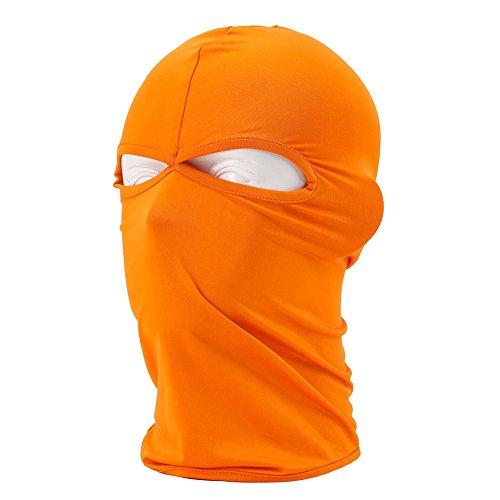 Unisex Motorrad Staubkappe Kopfmaske, DOXUNGO Sturmhaube, Outdoor-Sportgeräte (orange)