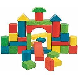36 BLOQUES PIEDRAS DE MADERA Holzbausteine bloques de construcción juguetes de madera de colores