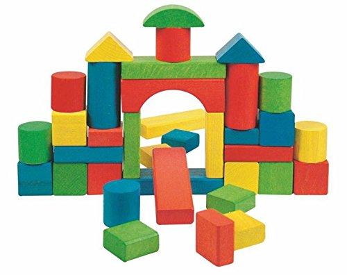 Woodyland 36 BLOQUES PIEDRAS DE MADERA Holzbausteine bloques de construcción juguetes de madera de colores