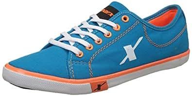 Sparx Men's Blue, Turkey and Orange Canvas Sneakers - 10 UK/India (44 EU)(SC0283G)