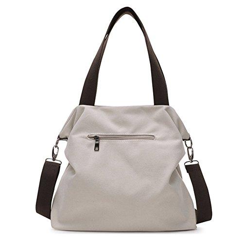 Ladies singola borsa a tracolla,borsa di tela,portatile/messenger bag-marrone IL Riso Bianco