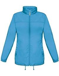 ShirtInStyle Basic Lady Windjacke Regenjacke Jacke Waserabweisend mit Kapuze