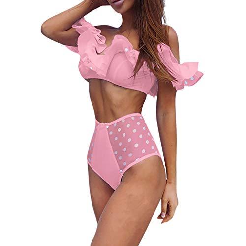 KaloryWee Bademode Mode Frauen Rüschen Bikini Push-Up Pad Bademode Badeanzug Beachwear Set