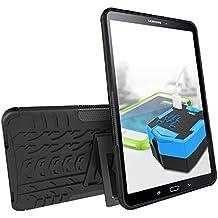 "Fundas Silicona Galaxy Tab A6 10.1 pulgadas, KATUMO® Carcasa Dura Transparente Gel para Samsung Galaxy Tab A6 10.1""(SM-T580/580) Funda Goma Caja Cubierta Clear Cover-Negro"