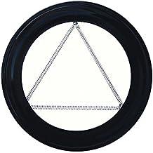 Wolfpack 22013290 - Plafon Embellecedor, Estufa Pellet, Vitrificado, Negro, 80 mm