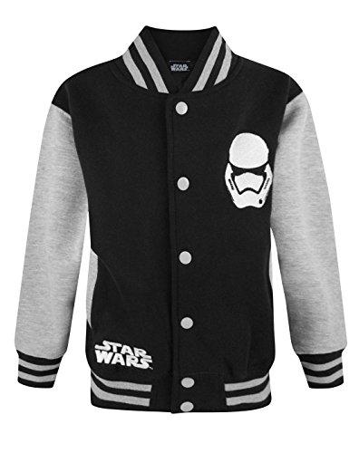 Ufficiale Star Wars Forza Awakens Primo Ordine Stormtrooper-Giacca Varsity Black 3-4 Anni