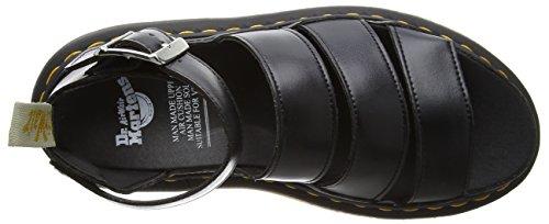 Dr. Martens 22076001, Sandali con Cinturino alla Caviglia Donna Nero (Black Felix Rub Off)