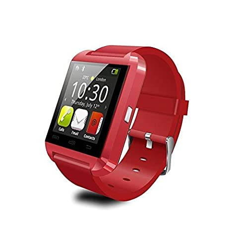 Koiiko® Wireless Bluetooth 3.0 Touch Screen Smartwatch with Dial Call, MMS, SMS, Alarm, Social Media, Altitude Meter, Passometer for Android (Supports All Functions) & iOS (Supports Partial Functions)