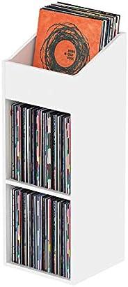 Glorious Record Rack 330 white - fortschrittliche Vinylstation mit 2-teiligem Layout, bis zu 330 Platten im 12