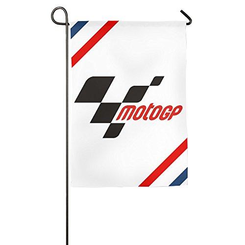 k-fly2Individuelle MotoGP House Flagge Garten Flagge Zwei Größen, weiß