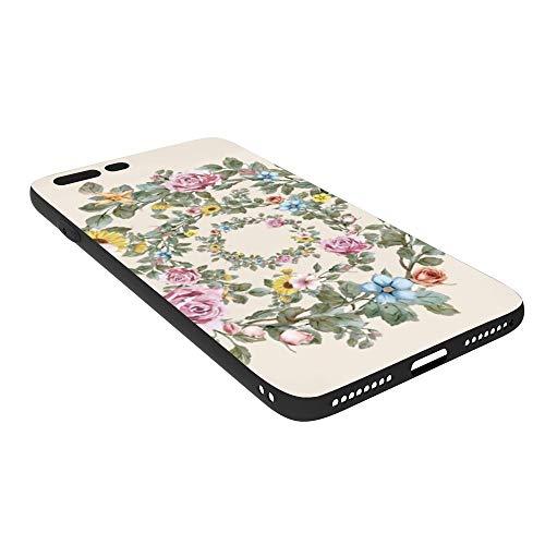 PecoStar iPhone 7 Plus Hülle, iPhone 8 Plus Hülle, Kranz Transparenter Bumper TPU Soft Case Gummi Silikon Skin Cover kompatibel mit iPhone 7 Plus Hülle iPhone 8 Plus -