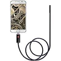 GVESS 2IN1 8,0 mm 2M 2MP OTG Android e PC 6 LED HD del Periscopio dell'Endoscopio Macchina Fotografica di Controllo USB Wire Impermeabile (Nero)