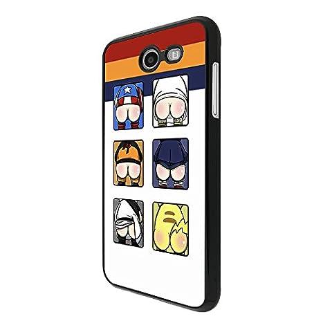 003234 - Funny super hero bottoms ass Design Samsung Galaxy J3 (2017) Coque Fashion Trend Case Coque Protection Cover plastique et métal - Noir