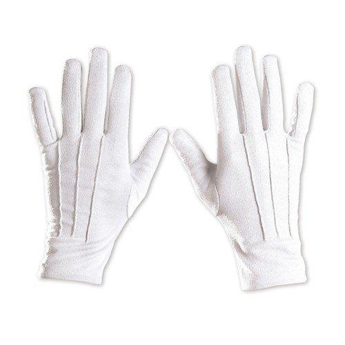 Handschuhe Clown Gloves Gothic Butler Rokoko show Zirkus Engel farbig Theater, (Kostüme Butler)