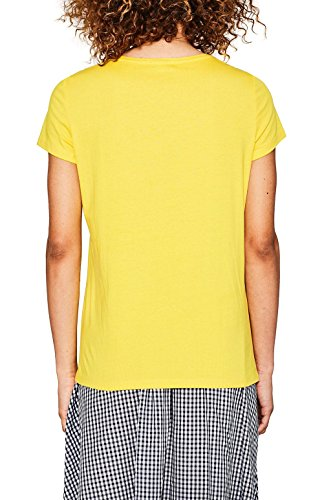 ESPRIT Damen T-Shirt Mehrfarbig (Sunflower Yellow 730)