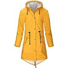 59aa5e4a551329 SWAMPLAND Damen PU Regenjacke Mit Kapuze Wasserdicht Windbreaker Wetterfest  Übergangsjacke Regenmantel