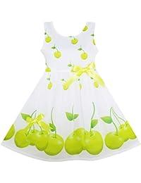 Mädchen Kleid Rosa Punkt Blume Bestickte Gr. 86-110