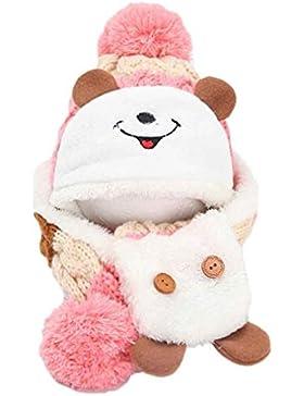 Baby Mütze Clode® Nette Winter Baby Kind Mädchen Jungen warme Woolen Coif Haube Schal Kappen Hüte