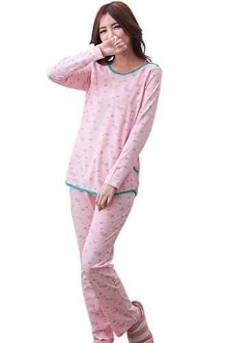 bearsland - Ensemble de pyjama spécial grossesse - Femme Rose - Rose