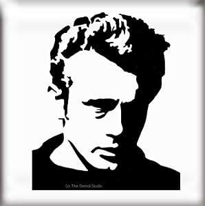 The Stencil Studio Famous Faces Range - James Dean Reusable Stencil - Size Extra Small (A5) (10153XS) by The Stencil Studio