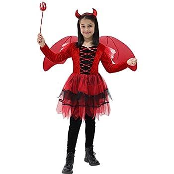 Pegasus Vestito Costume Maschera di Carnevale Halloween Bambina - DIAVOLETTA  - Taglia 9 10 Anni 6cd7eb22584