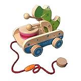 Zay Holzspielzeug zum Ziehen für 1 Jahr alte Kinder-Handleine Ziehspielzeug Auto Kleinkind Baby Ziehspielzeug für Kleinkinder Kinder Kinder