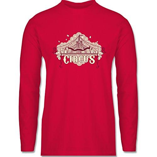 Shirtracer Statement Shirts - Circus - Herren Langarmshirt Rot