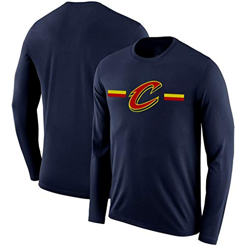 YUNMO Basketball Neue Langarm-Kostüm NBAT Shirt Herbst Cavaliers Rockets atmungsaktiv schnell trocknend Trainingsanzug Aufwärmen (Color : B, Size : - Dallas Cowboy Kostüm Kind