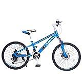 Kinderfahrräder Fahrrad 21-Fach-Übertragungs-System Student Fahrrad Mountainbike Mountainbike Junge Fahrrad Mädchen Fahrrad 22 Zoll (Color : Blue, Size : 22inches)