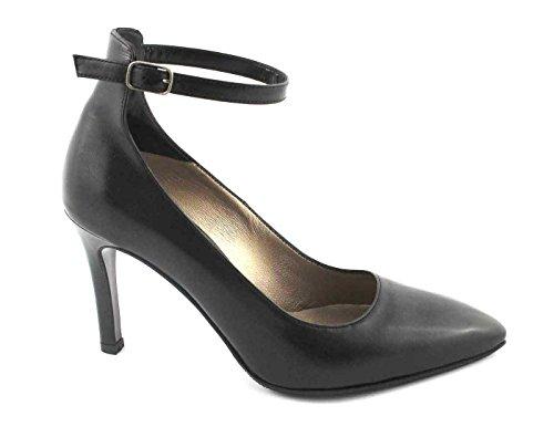 e5045 Dcollet Chaussures Sangle Talons Femme MELLUSO Noires Orteil Nero qUT0A
