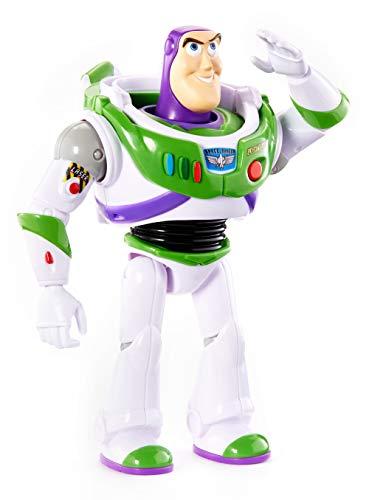 Disney Pixar Toy Story 4 Figurine parlante Buzz L'Éclair en Ranger de l'espace, taille fidèle au film, plus de 15 phrases et sons, pour rejouer les scènes du nouveau film, jouet pour enfant, GFR20