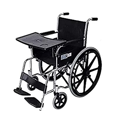 YAOBAO Wheelchair Tray, Detachable ABS Plastic Wheelchair Lap Tray, Wheelchair Table for Manual Powered or Electric Wheelchairs AIDS Patients