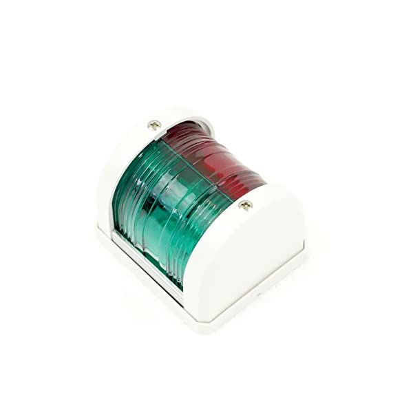 MiDMarine Red & Green Combination Bow LED Navigation Light MidiNav Range for boats up to 12m