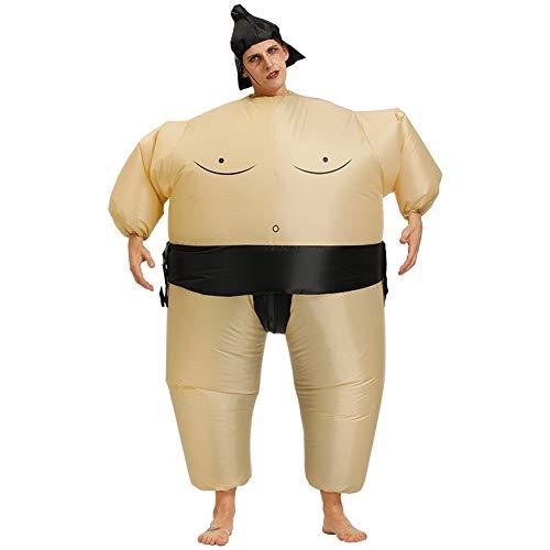Nwlzx Traje Inflable de Disfraces de Halloween Cosplay Carnaval Fiesta Blow up Disfraces Adultos/Niños-Sumo 150 to 190cm