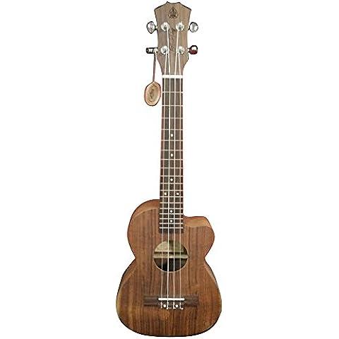 HONSING® 23 pulgadas escuela ukulele 4MMABS tono de sonido punto blanco TUKOAEC (Color madera)