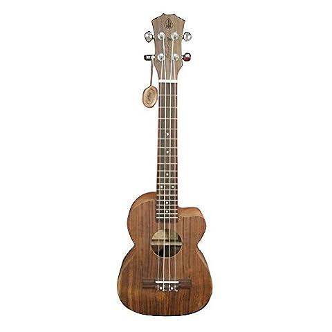 HONSING® 23 Zoll ukulele 4MMABS schule ton weiß punkt TUKOAEC(Holzqualitäten