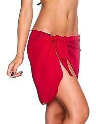 iBaste 2017 Nueva damas Monocromático Moderno Playa Beach Skirt Beach Vestidos Bikini Bottoms Cover Up