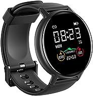 IOWODO Smartwatch Donna Uomo 5ATM Impermeabile Cardiofrequenzimetro Sonno Orologio Fitness Tracker Contapassi