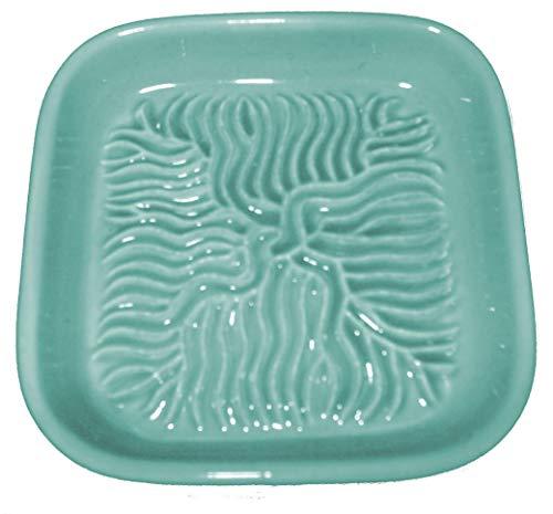 Ceramico Reibe (Hellblau) handwerklich gefertigte Keramik Reibe aus Finnland geeignet zum Reiben jedes essbaren Produktes wie Muskatnuss, Parmesan, Ingwer, Knoblauch und andere