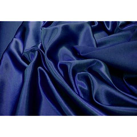 Tejido raso de poliéster azul marino **INCLUYE POST** Forro costura decoración del mismo color MATERIAL de raso de tela con lazo y pedrería
