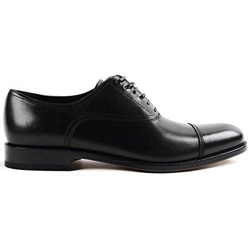 Salvatore Ferragamo Homme 029345001642010NERO Noir Cuir Chaussures À Lacets