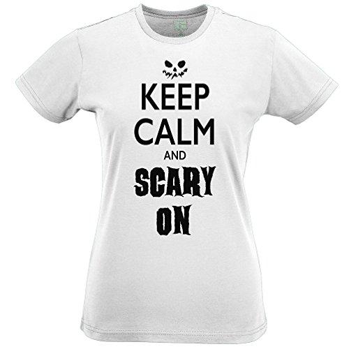 Behalten Sie Ruhe und Scary Auf Lustige Scary Halloween Kostüm Kürbis Frauen (Für Kostüme Minute Halloween Last Frauen)